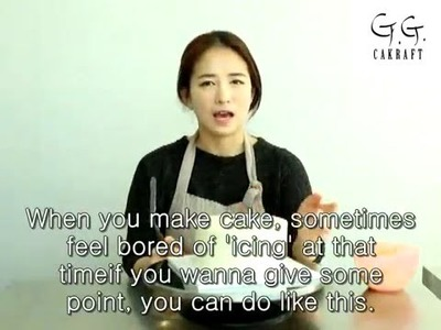 Ggcakraft how to 'icing' something special (flower cake) #4