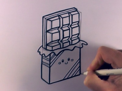 How to Draw a Cartoon Chocolate Bar