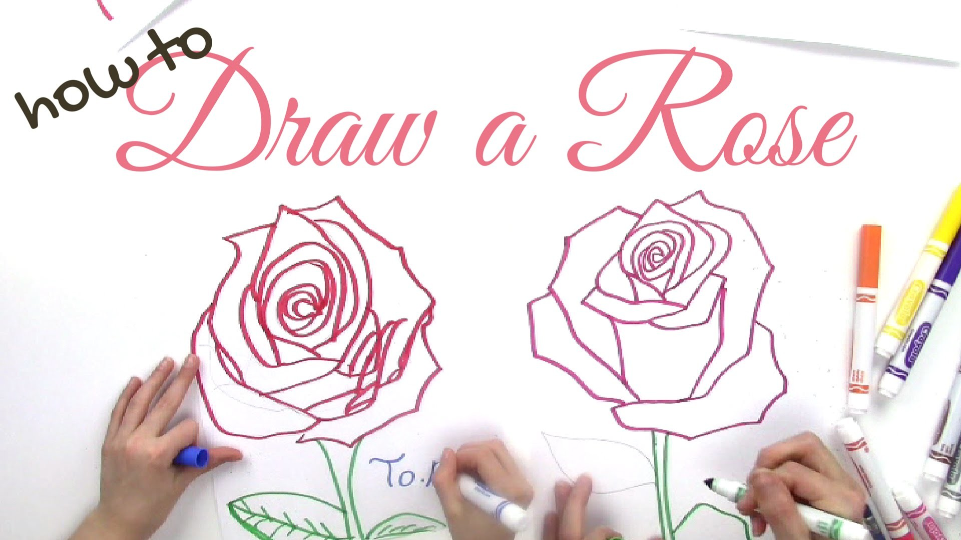 How to Draw a Rose Step by Step for Kids