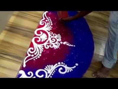 How to draw beautiful sanskar bharati rangoli Simple creative rangoli design