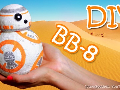 How To Make a BB-8 Money Box Out Of Paper Napkins – DIY BB8 droid from Star Wars