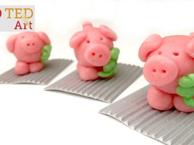 How to Make a Fondant - Marzipan Pig (New Year's Tradition)