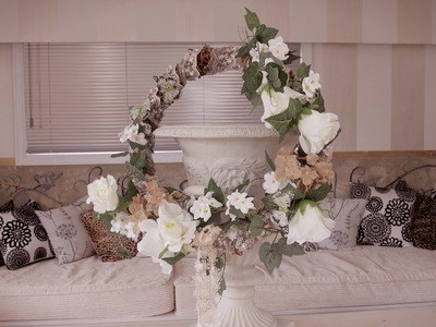How to make a vintage Willow and Lace Christmas Wreath