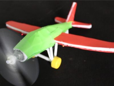 How to make an Electric Airplane   Paper Airplane