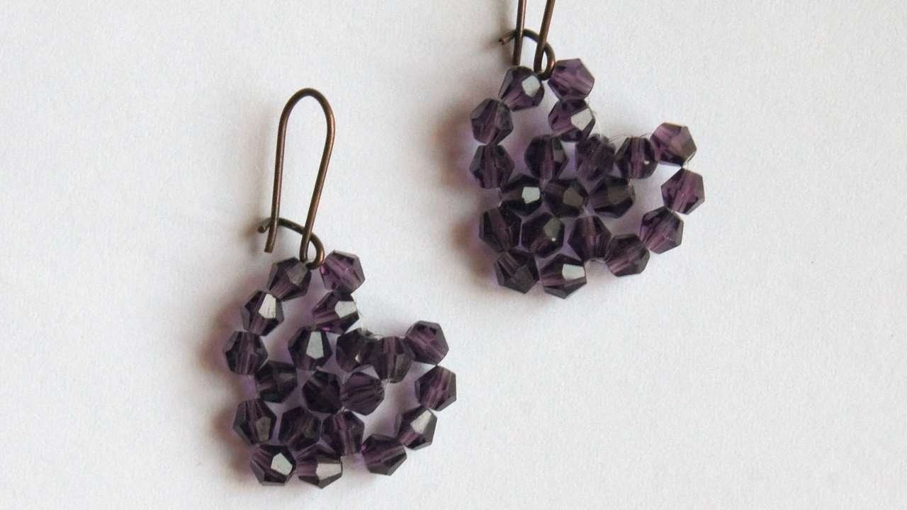 How To Make Beaded Heart Earrings - DIY Crafts Tutorial - Guidecentral