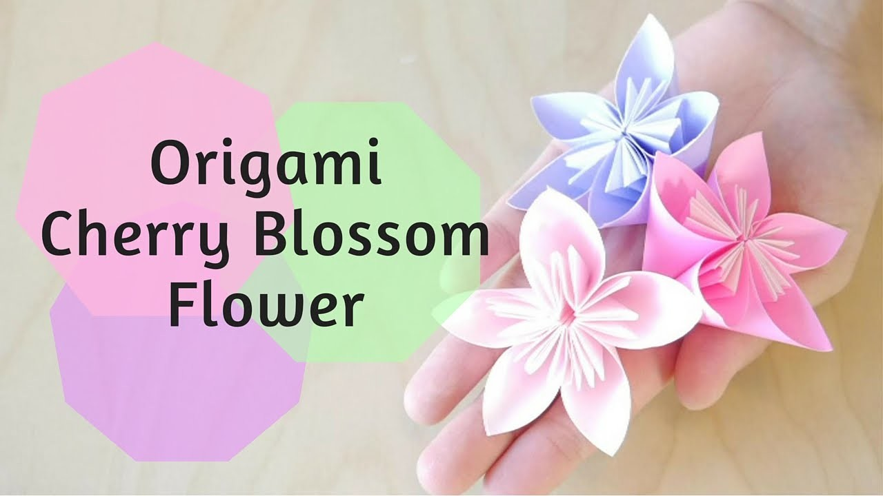 How to Make Origami Cherry Blossom Flower