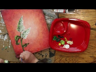 How to Paint BUTTERFLY BUSH BLOSSOMS - Lesson #4 of