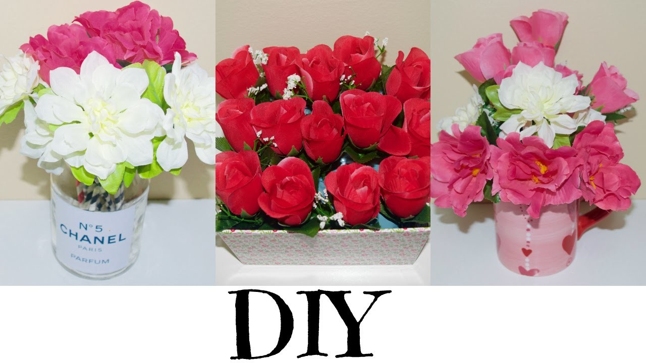 HOW TO:QUICK & EASY FLOWER ARRANGEMENT.ROOM DECOR.VALENTINE'S DAY UNDER CAD$7