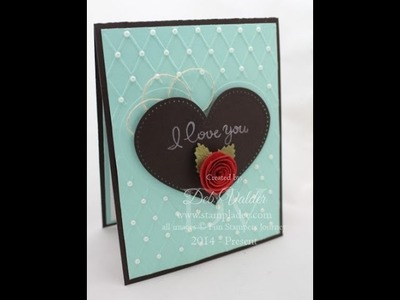 How to use the Heart You Embossing Folder
