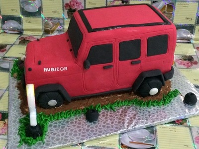 Jeep Rubicon Cake How to Make