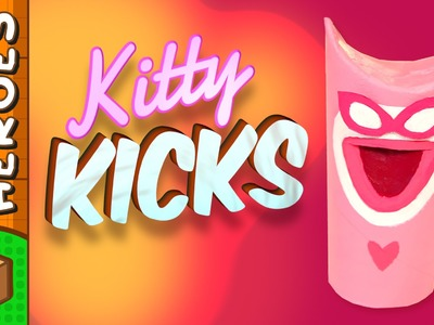 Kitty Kicks - DIY Paper Roll Crafts | Box Heroes on Box Yourself