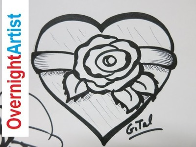 Learn How To draw A Rose How To Draw A Heart