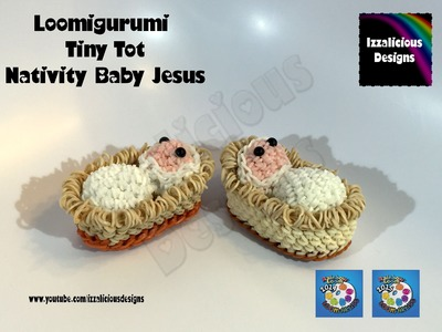 Loomigurumi Tiny Tot Nativity Baby | Jesus Christmas - amigurumi w. Rainbow Loom Bands