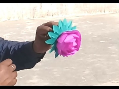 Make Beautiful Paper rose using india art