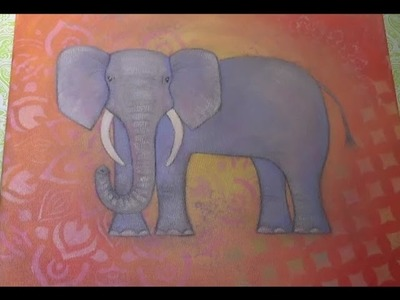 Mandala Elephant Acrylic Painting Tutorial | How to Paint & Draw | Full Lesson