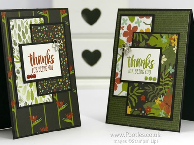 Pootles' SpringWatch Botanicals Layered Card How To PLUS GIVEAWAY