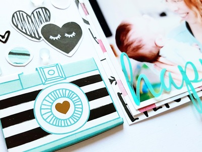 Scrapbooking Process- Hip Kit Club- Crate Paper Hello Love