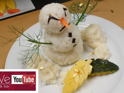 Snowman Sushi - How To Make Sushi Series