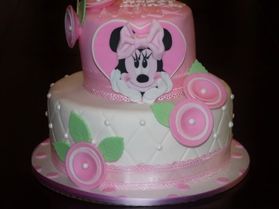 Cake decorating - how to make minnie mouse cake topper