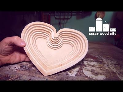 DIY Valentine's scrollsaw bowl