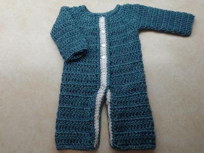 (How to #Crochet) (#Newborn Baby Sleeper) #TUTORIAL #293