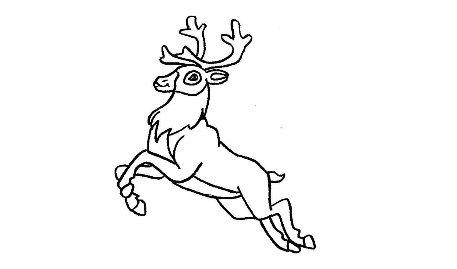 how to draw a reindeer  santa claus  christmas