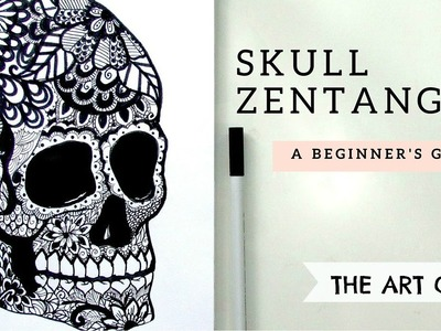 How to Draw ll SKULL ZENTANGLE ll