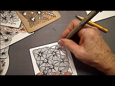 How to draw Tangle Pattern Nymph Lesson #2 by Melinda Barlow