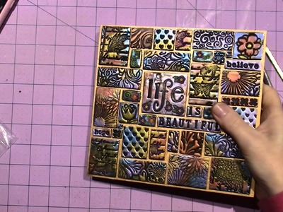 How to Grout a Mixed Media Mosaic