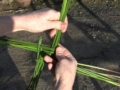 How To Make A Brigid's Cross From Rushes