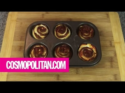 How To Make a Pizza Rose | Cosmopolitan
