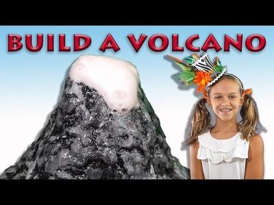 How to make a Volcano using salt dough, baking soda and vinegar!