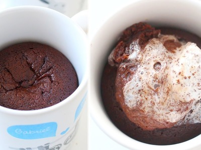 How to Make Chocolate Lava Cakes IN A MUG!!