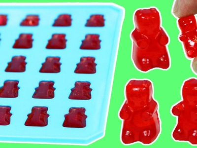 How to Make Jello GUMMY BEARS Fun & Easy DIY Homemade Gummy Candy Treats!