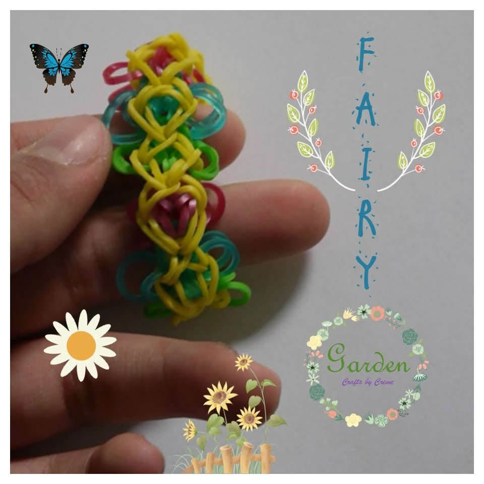 ~NEW Fairy Garden Bracelet~ | Rainbow Loom, etc. Tutorial | Crafts by Creme