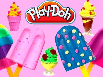 NEW Play Doh Ice Cream Cupcakes Playset | Play-Doh Ice Cream Rainbow Play Dough Popsicles 2016