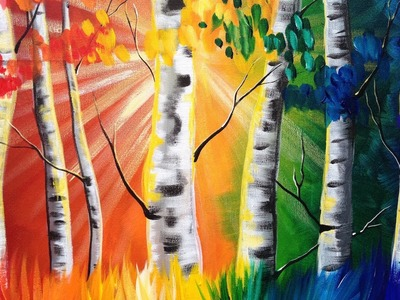 Painting for Beginners | Rainbow Tree's | ASL  Art sherpa