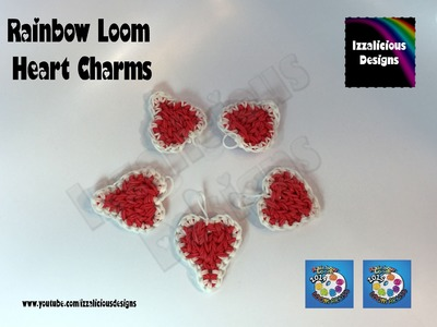 Rainbow Loom Heart | Hart Charm for Valentine's Day