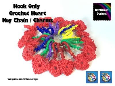 Rainbow Loom Heart | Hart | Valentine Key Chain Charm