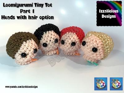 Rainbow Loom Loomigurumi Tiny Tot Head w. hair | Part 1 base head w.hair made w. Rainbow Loom Bands