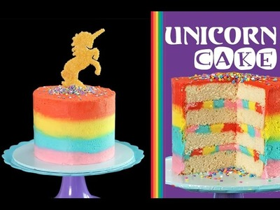 Rainbow UNICORN Cake | How to Make a Unicorn Cake with My Cupcake Addiction
