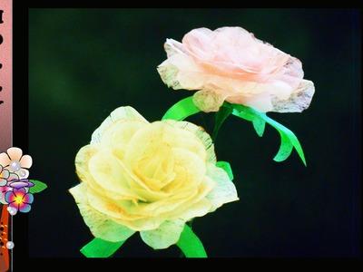 Tissue Paper Flowers Tutorial : Tissue paper roses