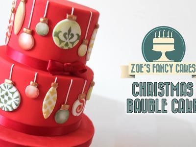 Christmas bauble cake Christmas collaboration