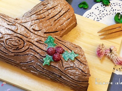 Christmas Yule Log Mousse Cake | d for delicious