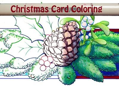 Deck the Halls Christmas Card COPIC Speedpaint