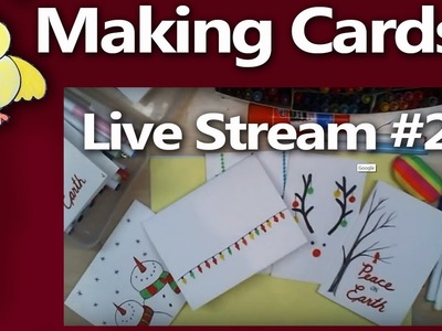 DoodleDrawArt LIVE on Friday! Let's chat while I make Christmas Cards