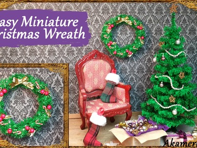 Easy Miniature Christmas Wreath Tutorial