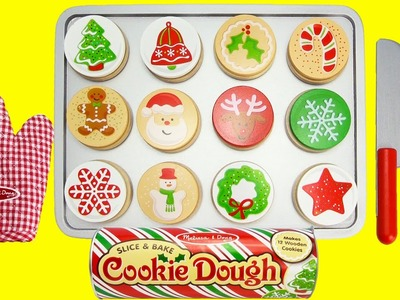Melissa and Doug Wooden Christmas Cookie Baking Playset Velcro Toys