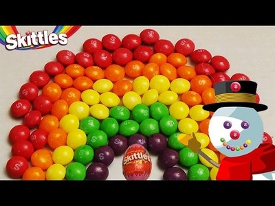 New Learn Colours with Surprise Eggs and a Skittles Rainbow! Christmas Edition!