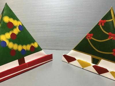 Origami Christmas Tree Pyramid Case Print Your Own